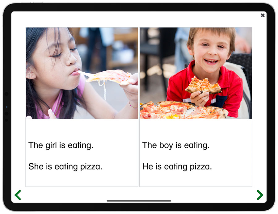 Picture of the iPad edition of See and Learn Sentences 1 - Reading Books activity