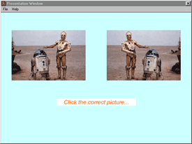 Example of stimuli from the memory for lateral orientation task of the online experiment