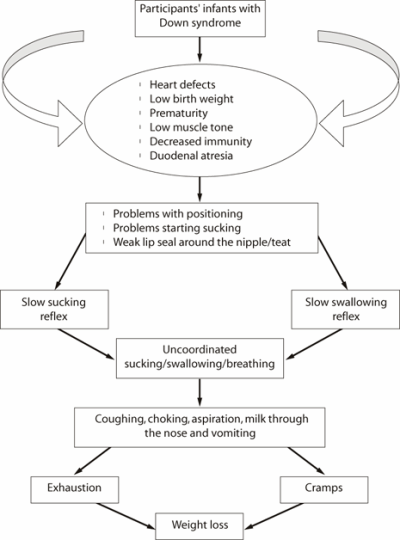 Figure 2. Cascading effect of feeding problems in the participants' infants